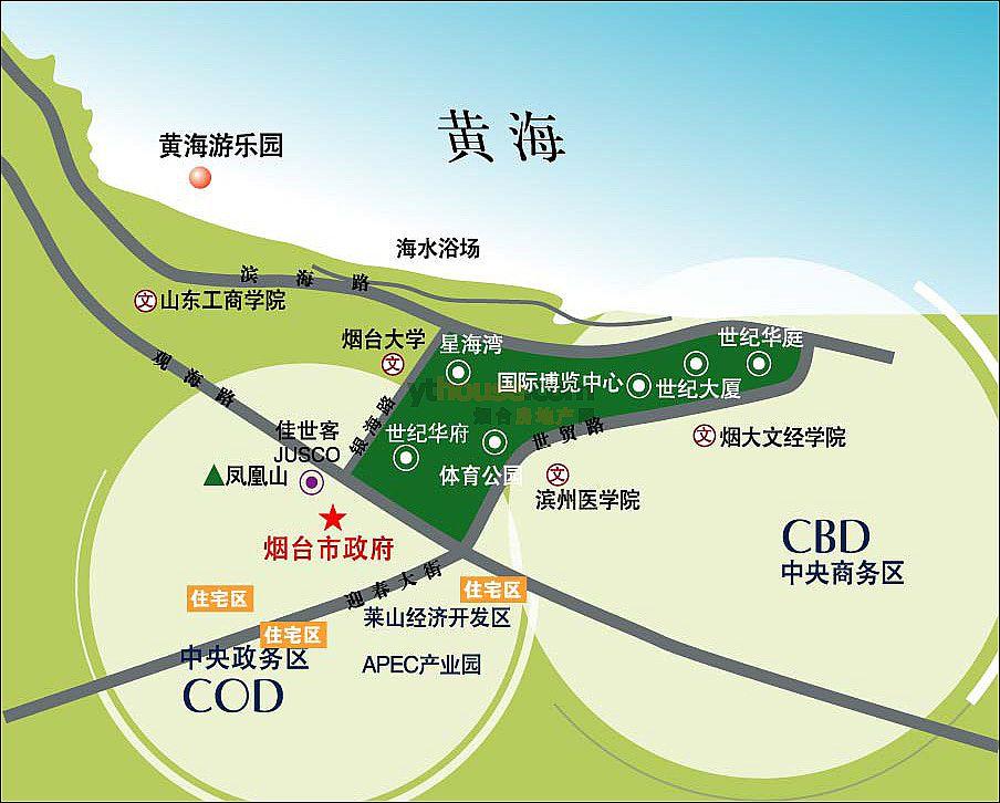 烟台南山学院东海校区地图