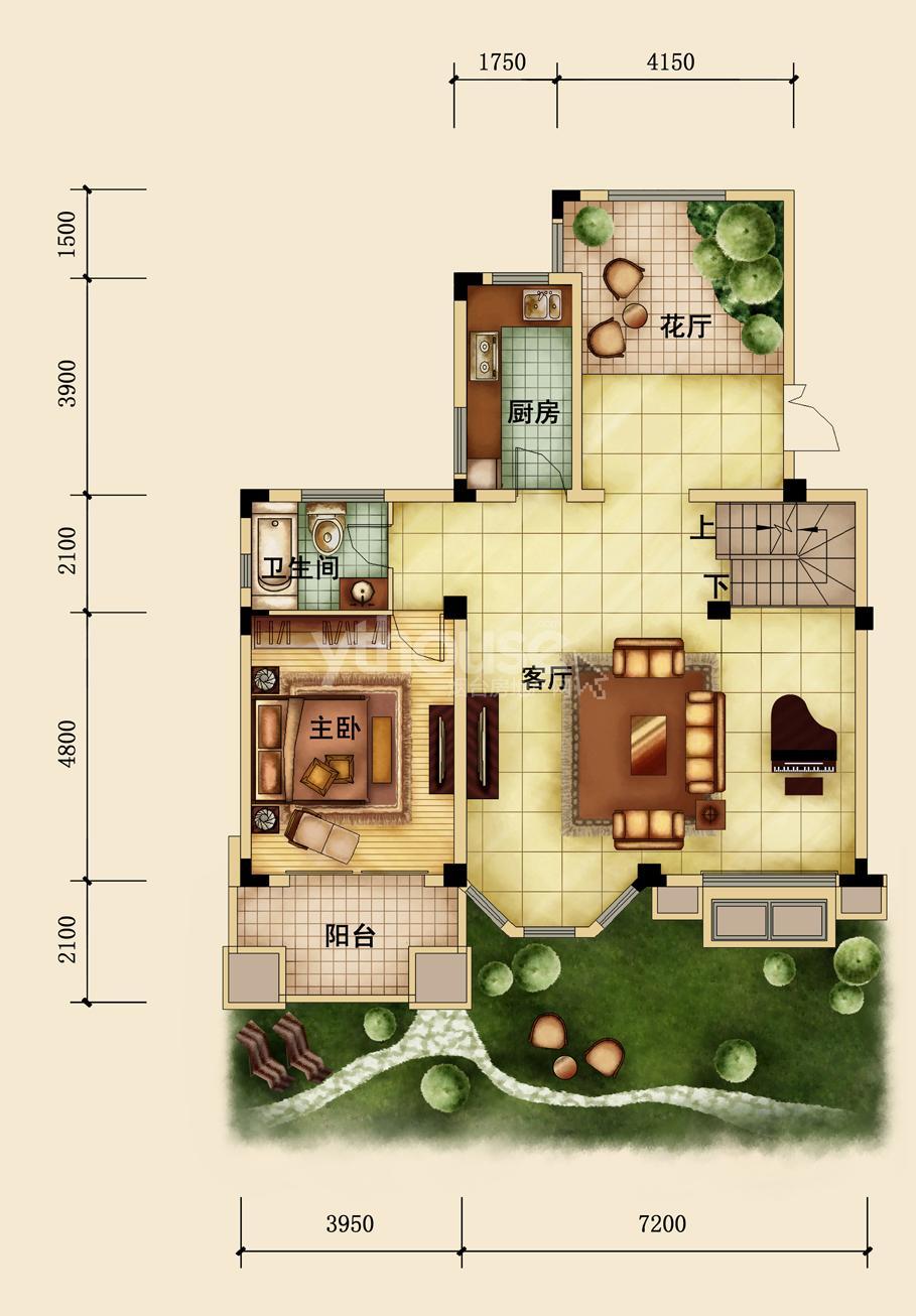 仙境别墅平面设计图